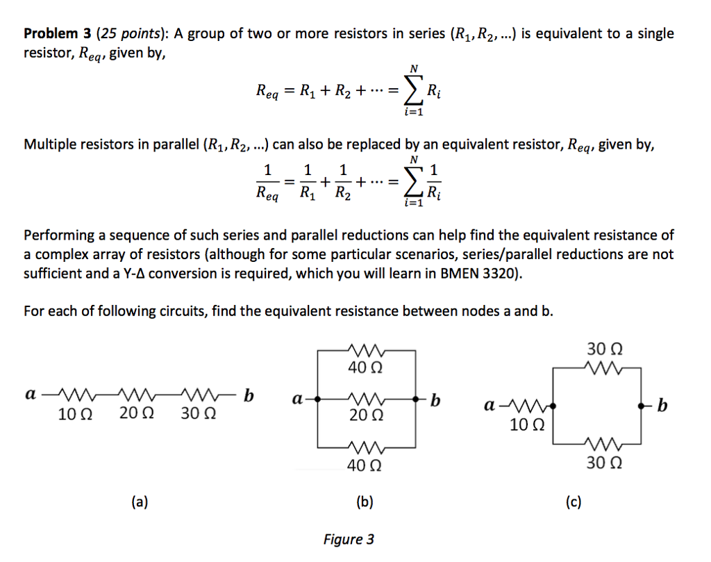 Solved A Group Of Two Or More Resistors In Series R 1 Problem 3 25 Points