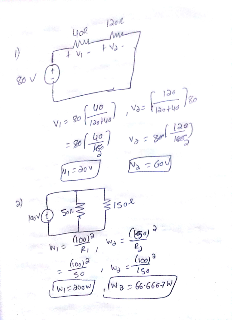 Solved Consider A Voltage Source V080v In Series With Tw