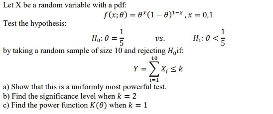 Solved: Let X Be A Random Variable With A Pdf F(x,8) = θ