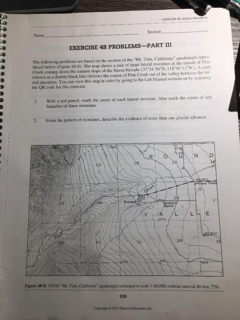 "see more Show transcribed image text Physical Geography Laboratory Manual  Section Name EXERCISE 48 PROBLEMS-PART IV le (scale "" The The following  questions ..."