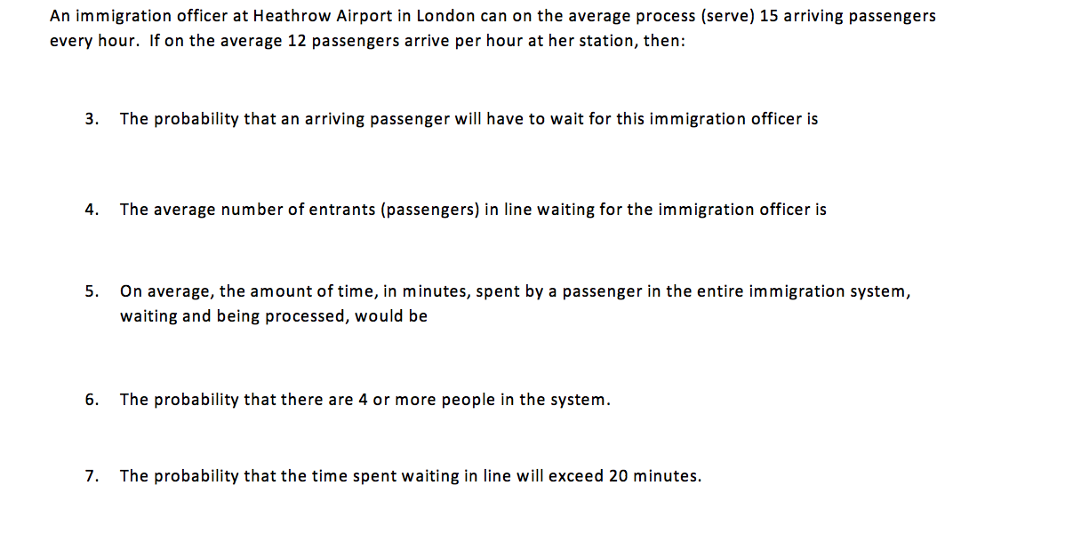 Solved: An Immigration Officer At Heathrow Airport In Lond