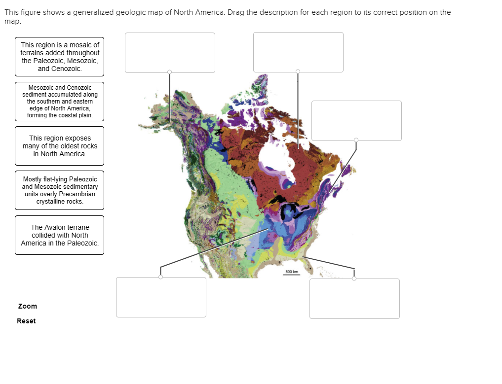Solved This Figure Shows A Generalized Geologic Map Of No