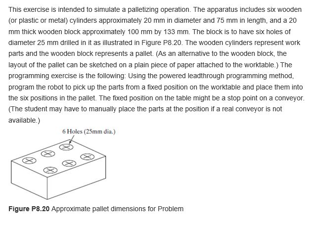 This Exercise Is Intended To Simulate A Palletizing Operation The Apparatus Includes Six Wooden