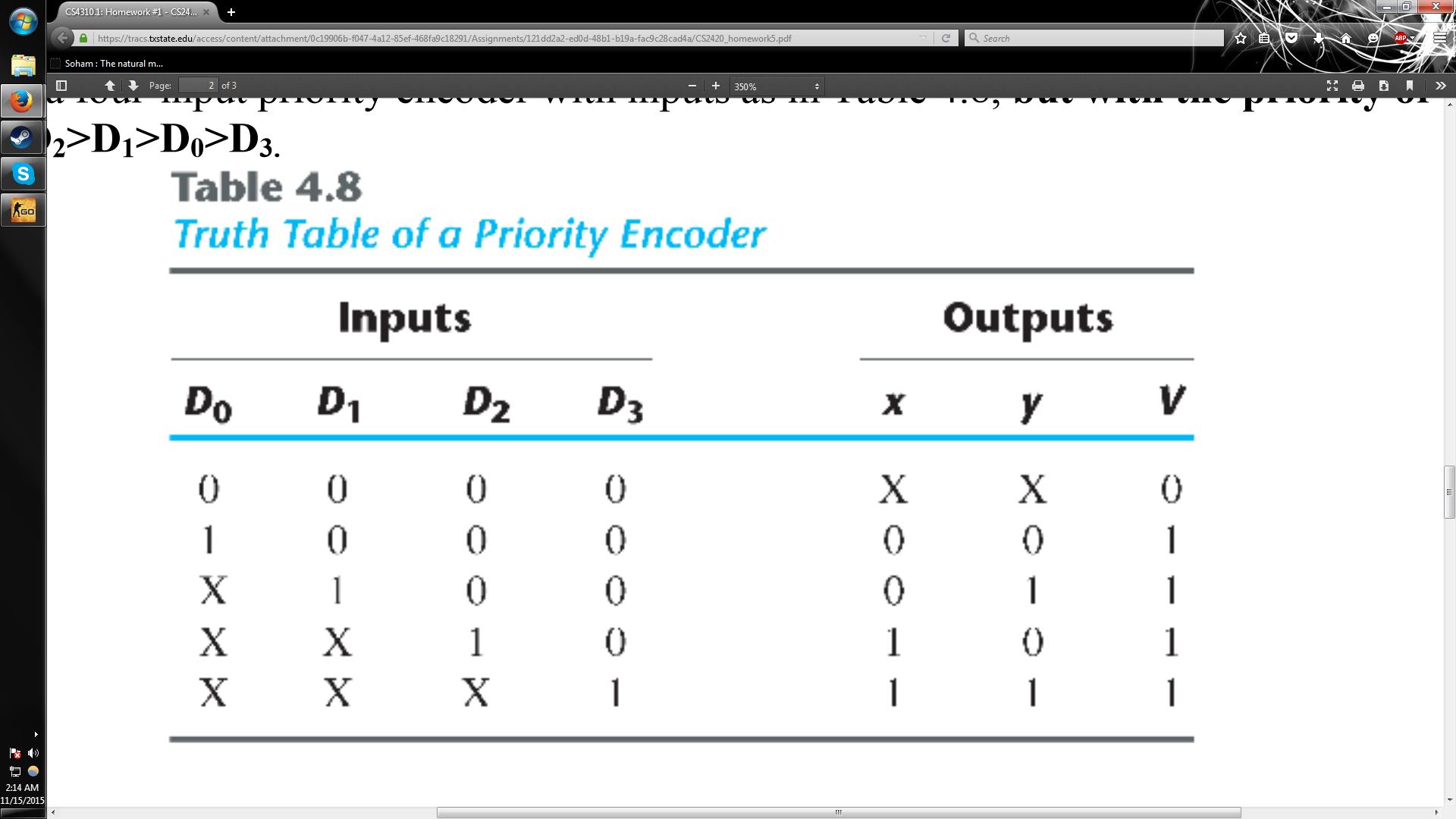 3) Implement circuit. CS43101: Homework #1-CS24 https//tracs.txstate.edu/