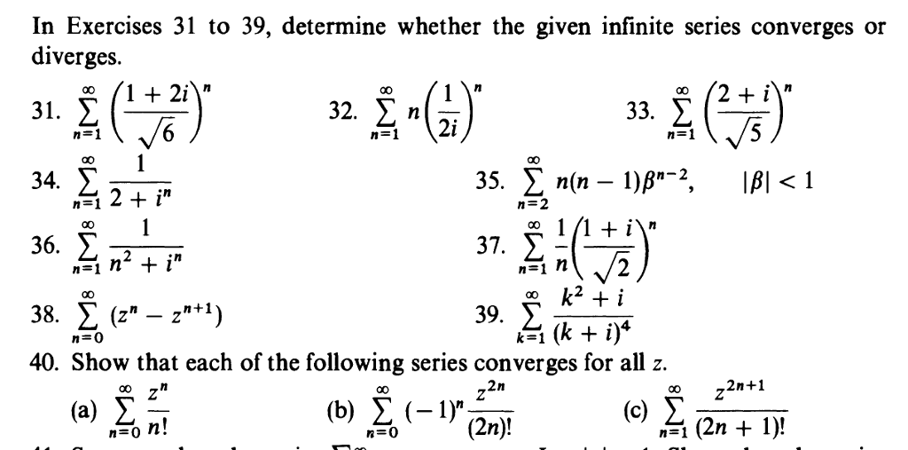 Solved: Determine Whether The Given Infinite Series Conver