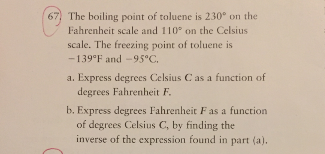 The Boiling Point Of Toluene Is 230 On Fahrenheit Scale And 110