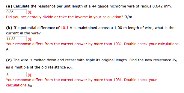 Solved a calculate the resistance per unit length of a image for a calculate the resistance per unit length of a 44 gauge nichrome greentooth Image collections