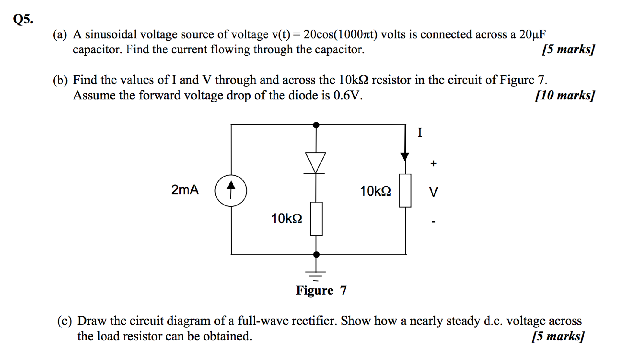 solved a sinusoidal voltage source of voltage v(t) \u003d 20co Function Generator Circuit Diagram