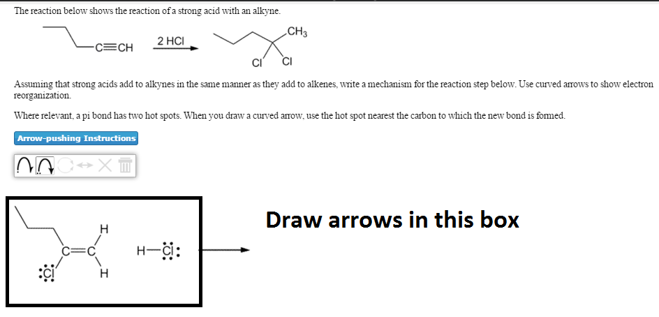 be955a848c Question  The reaction below shows the reaction of a strong acid with an  alkyne. Assuming that strong acids.