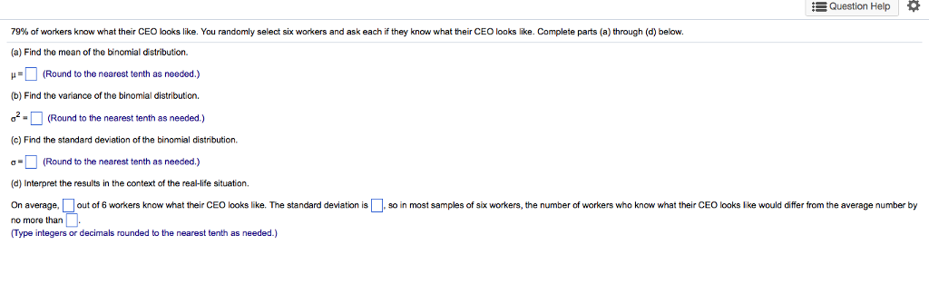 Looks As If They Know Their >> Solved Question Help 79 O Workers Know What Their Ceo Oo