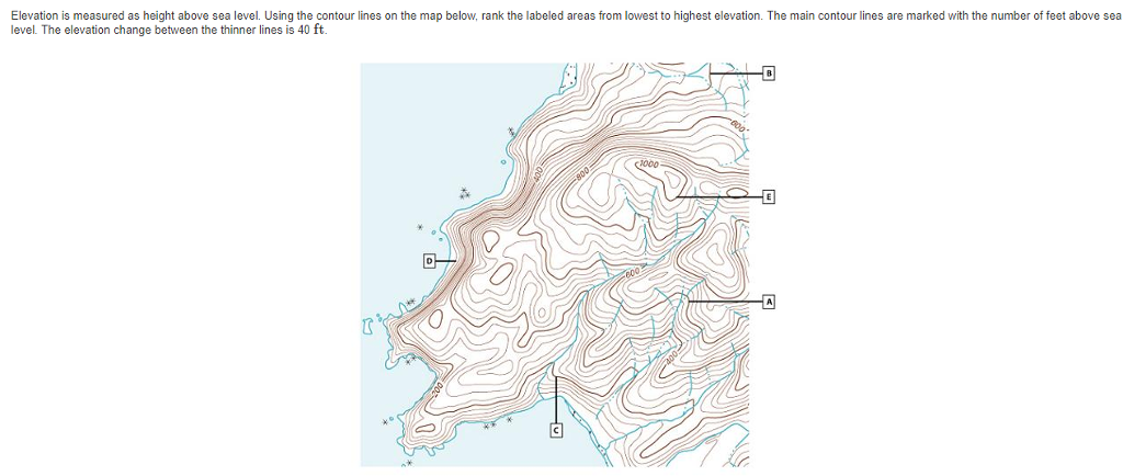 Contour Lines On A Topographic Map Connect.Solved On A Topographic Map The Shape Of A Landscape Is