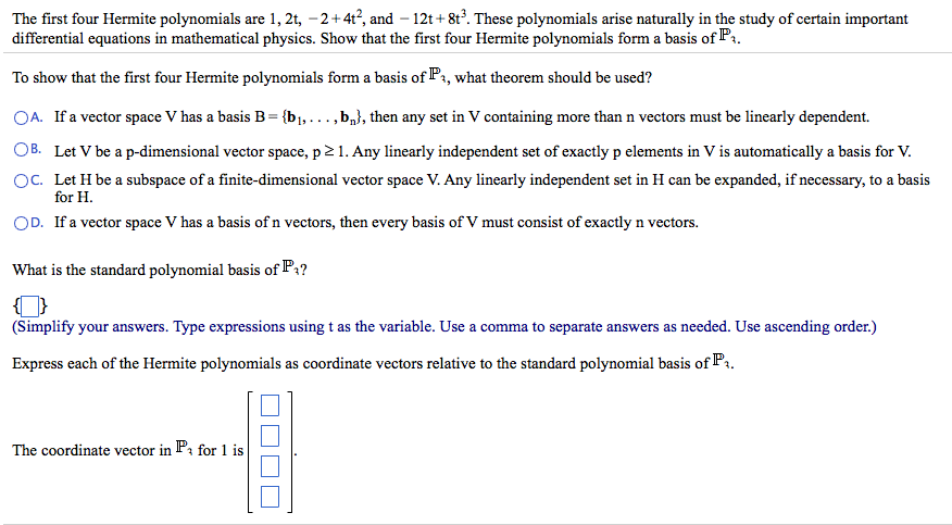 Solved Find The Dimension Of The Subspace Spanned By The