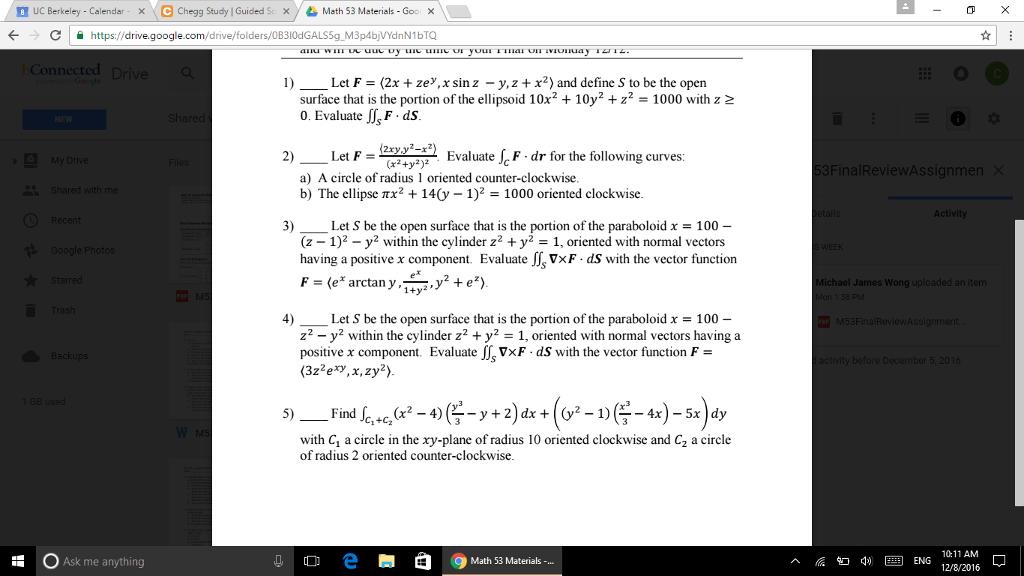 Solved: B UC Berkeley Calendar X C Chegg Study IGuided Sc