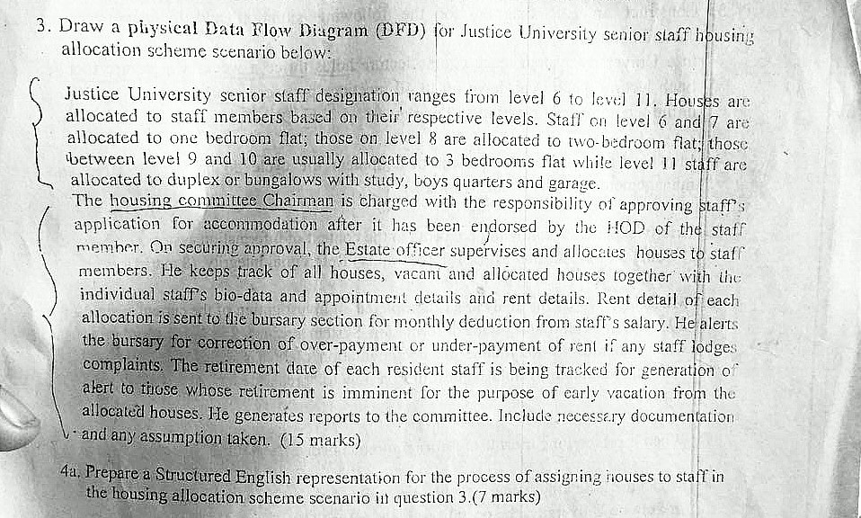 Solved 3 draw a pihysical data flow diagram dfd for jus draw a pihysical data flow diagram dfd for justice university senior siaff hbusinig ccuart Image collections