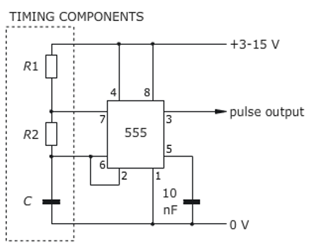 Solved: For The Following IC 555 Timer Diagram With An Ast ... on