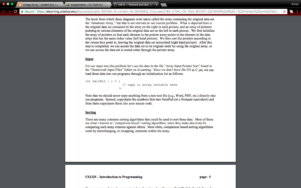 Solved: C Chegg Study | Guided Solutios Assignments-CS 132
