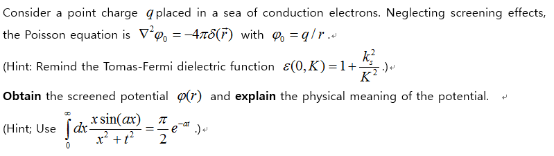 Solved: Consider A Point Charge Placed In A Sea Of Conduct