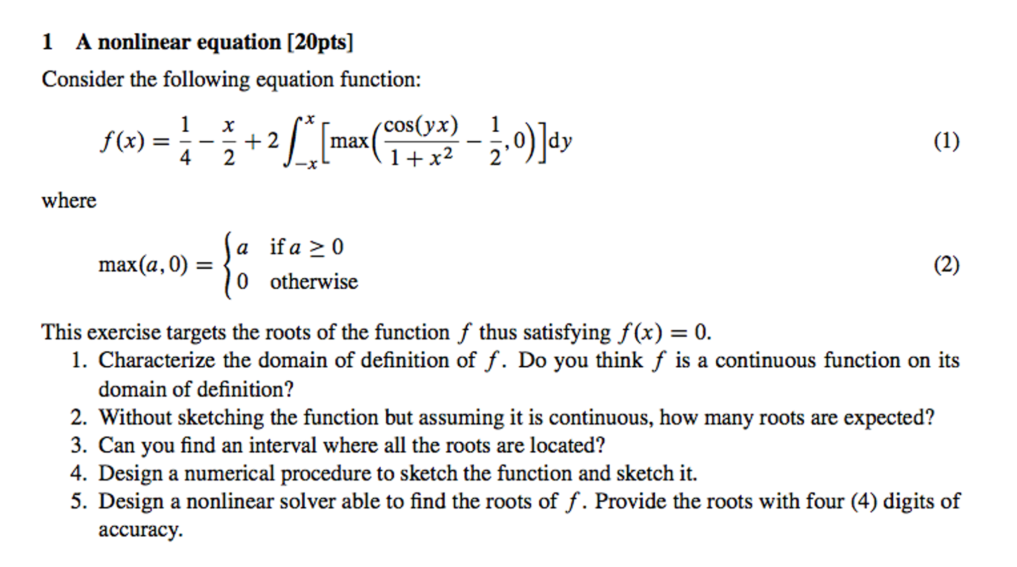 a nonlinear equation consider the following equati | chegg