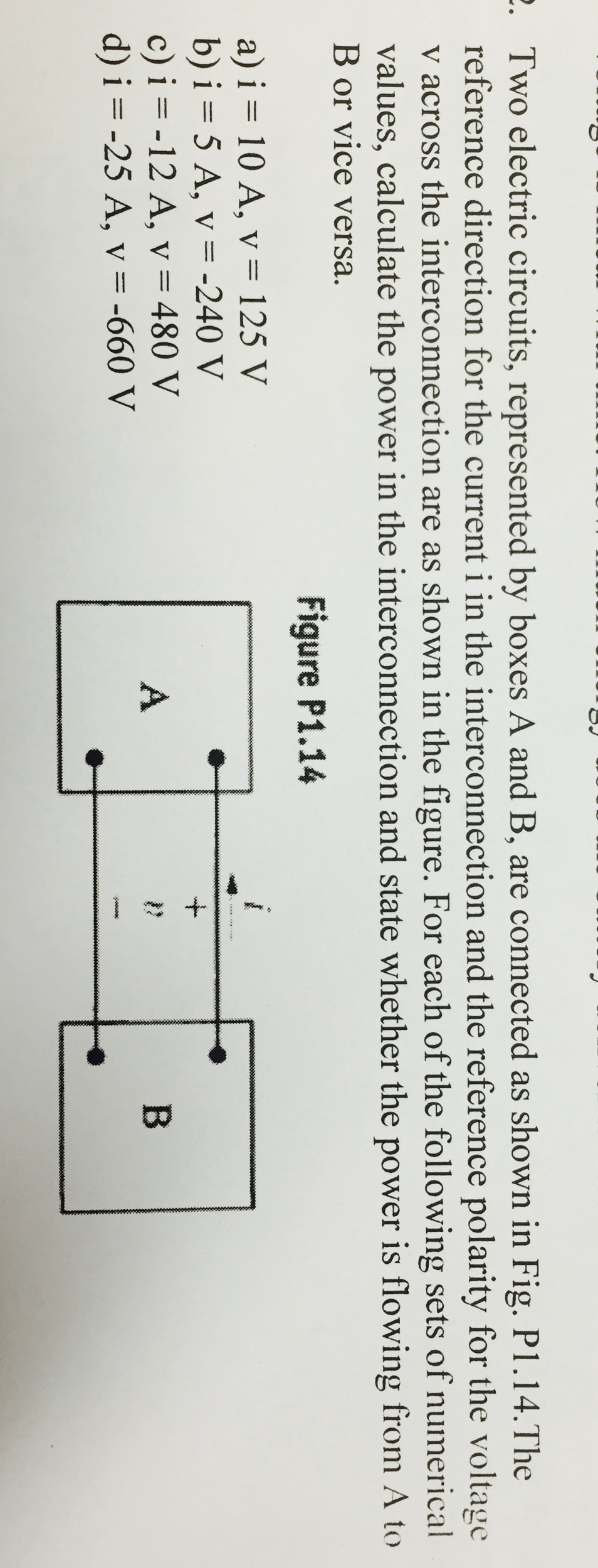 Solved Two Electric Circuits Represented By Boxes A And Electriccircuits Image For B Are Connected As