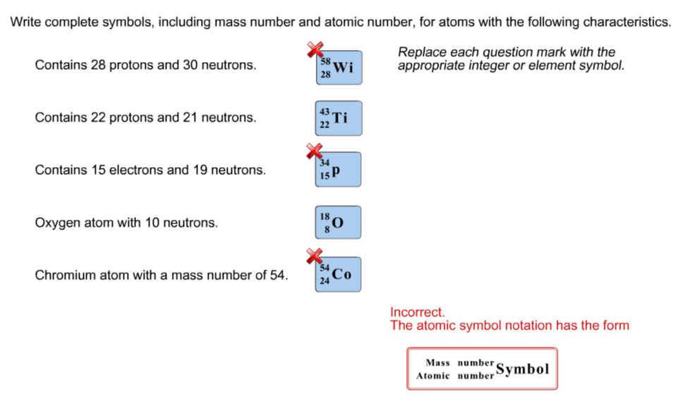 Solved Write Complete Symbols Including Mass Number And