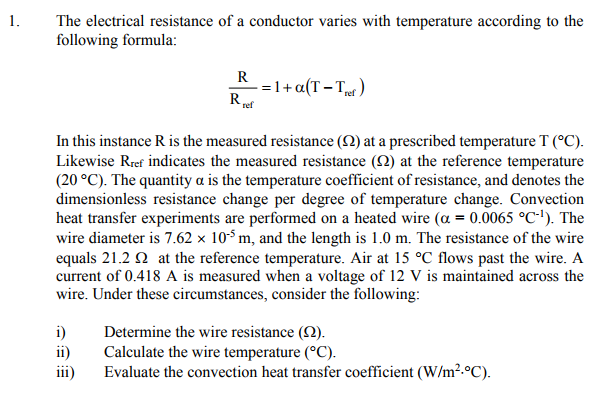 sample problem of resistance of wire B) a wire made of a copper alloy is 5 m in length and has a cross-sectional area 1 mm 2 its resistance is 015 w calculate the resistivity of this alloy.