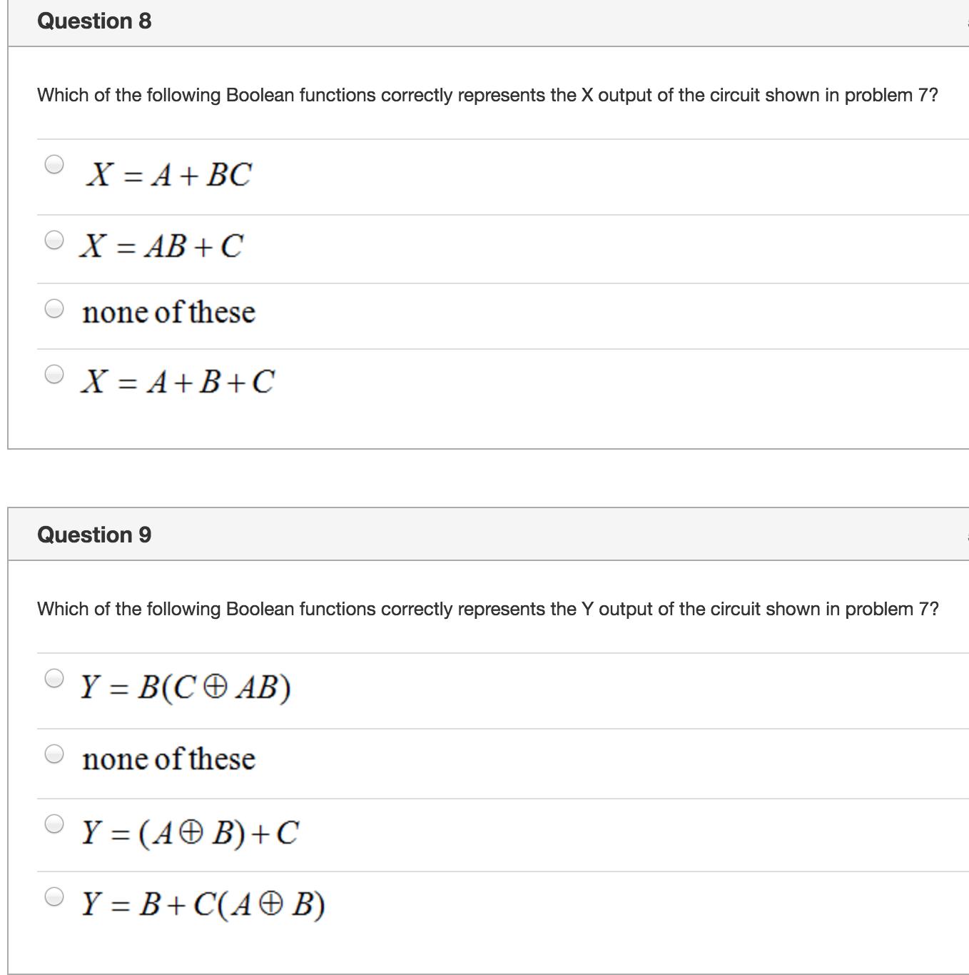 Solved Question 7 5 Pts The Logic Diagram Shown Below Sho Circuit Of Boolean Algebra Calculator Please Help Me
