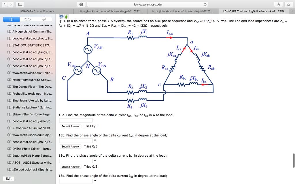 Solved: ID Lon-capa engr sc edu LON-CAPA Course Contents B