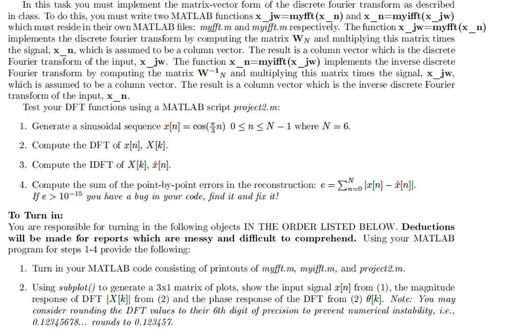 Solved: In This Task You Must Implement The Matrix-vector
