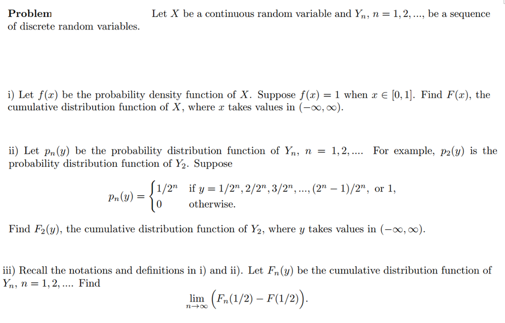 Problem Of Discrete Random Variables Let X Be A Co Chegg