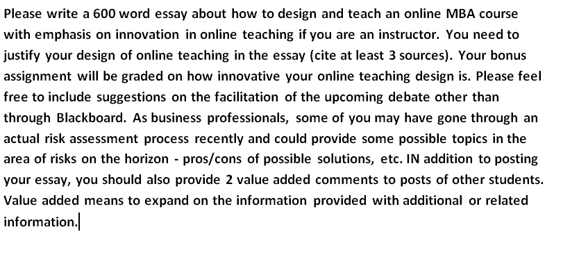 please write a word essay about how to design com image for please write a 600 word essay about how to design and teach an online
