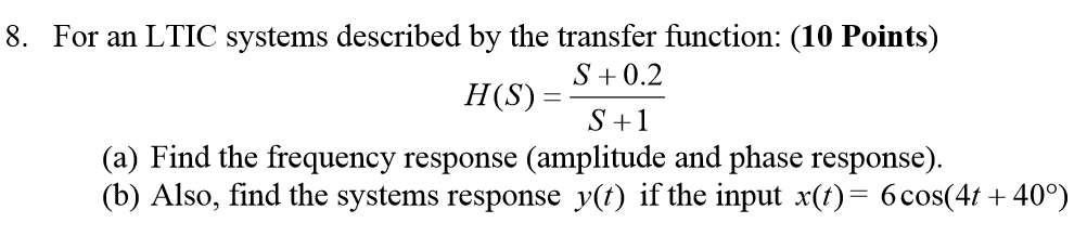 response of a ltic system time domain