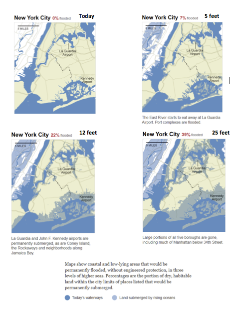 1 An Interactive Map That Illustrates The Effect Cheggcom - Us-sea-level-map