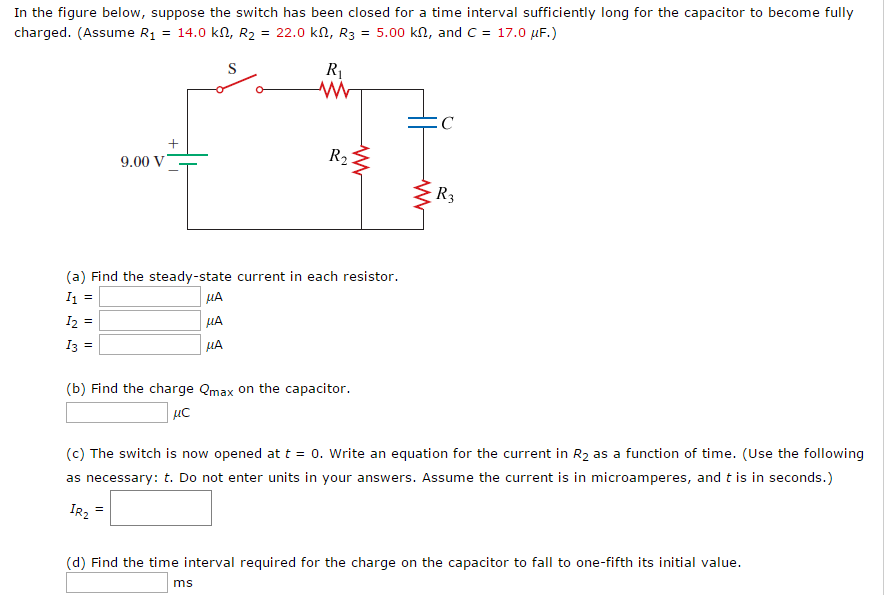 solved in the figure below suppose the switch has been c rh chegg com