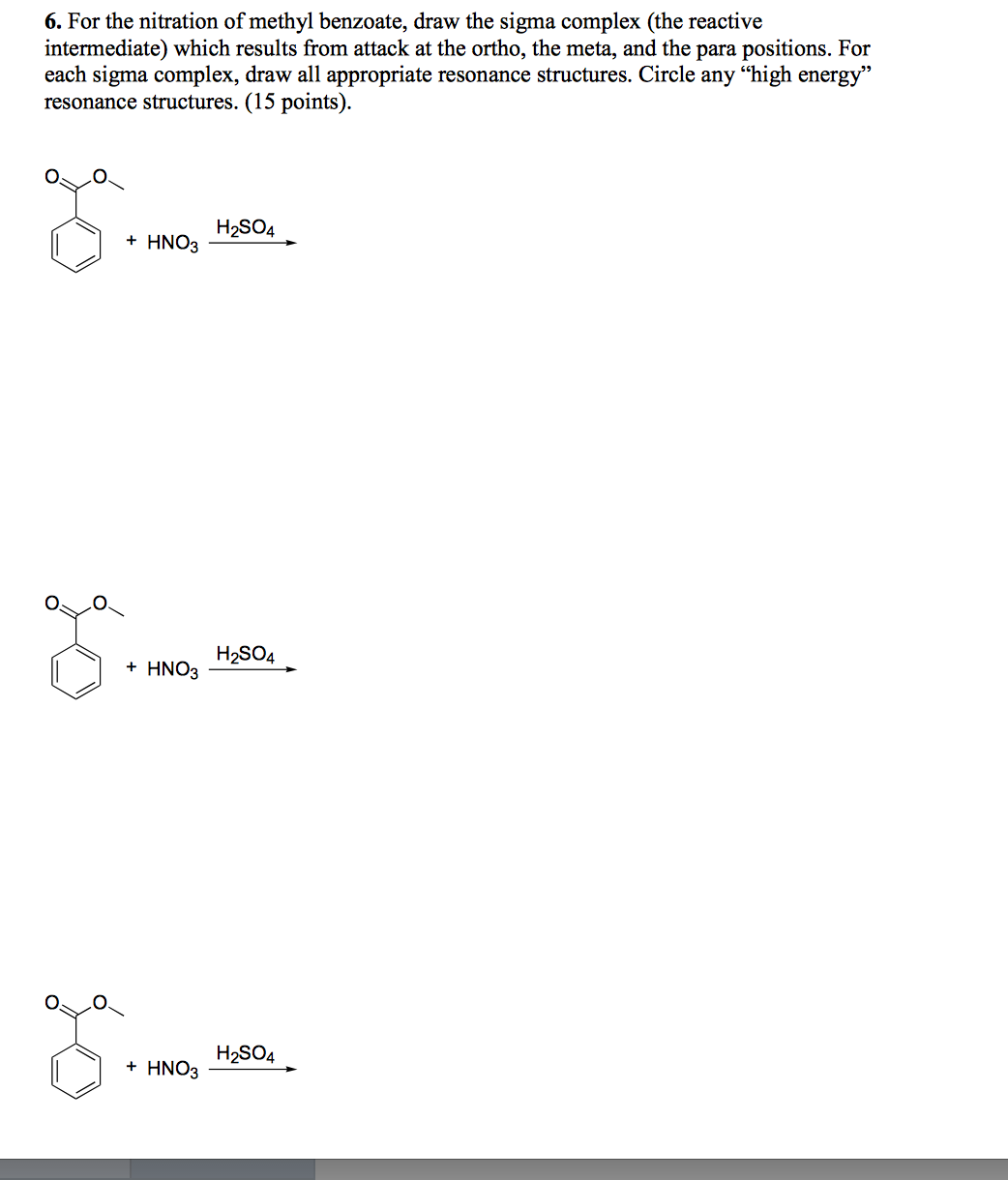nitration of methyl benzoate essay example