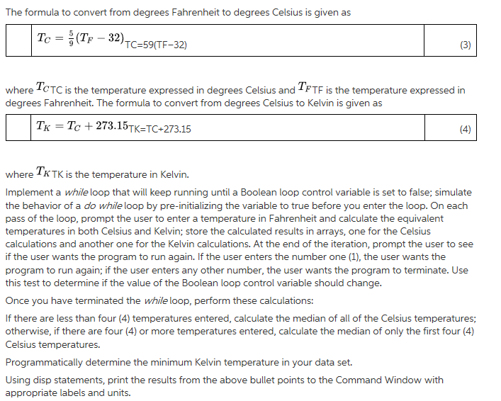 The Formula To Convert From Degrees Fahrenheit Celsius Is Given As T C 5 9T F