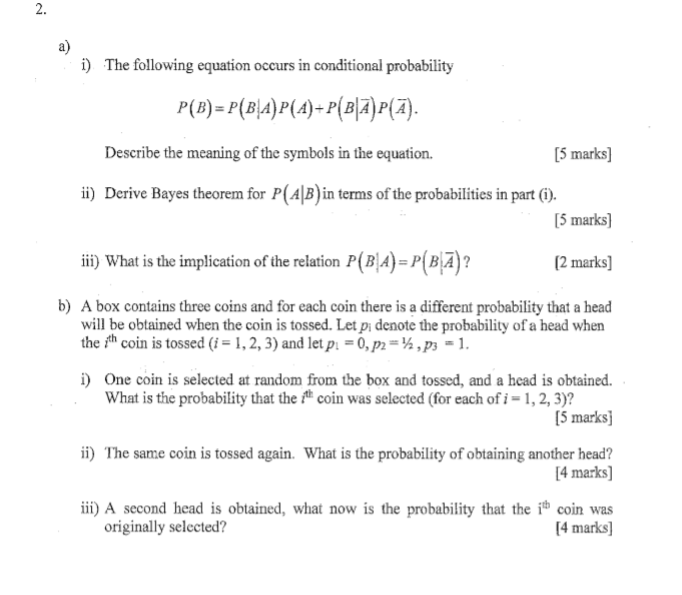 Solved 2 A The Following Equation Occurs In Conditional