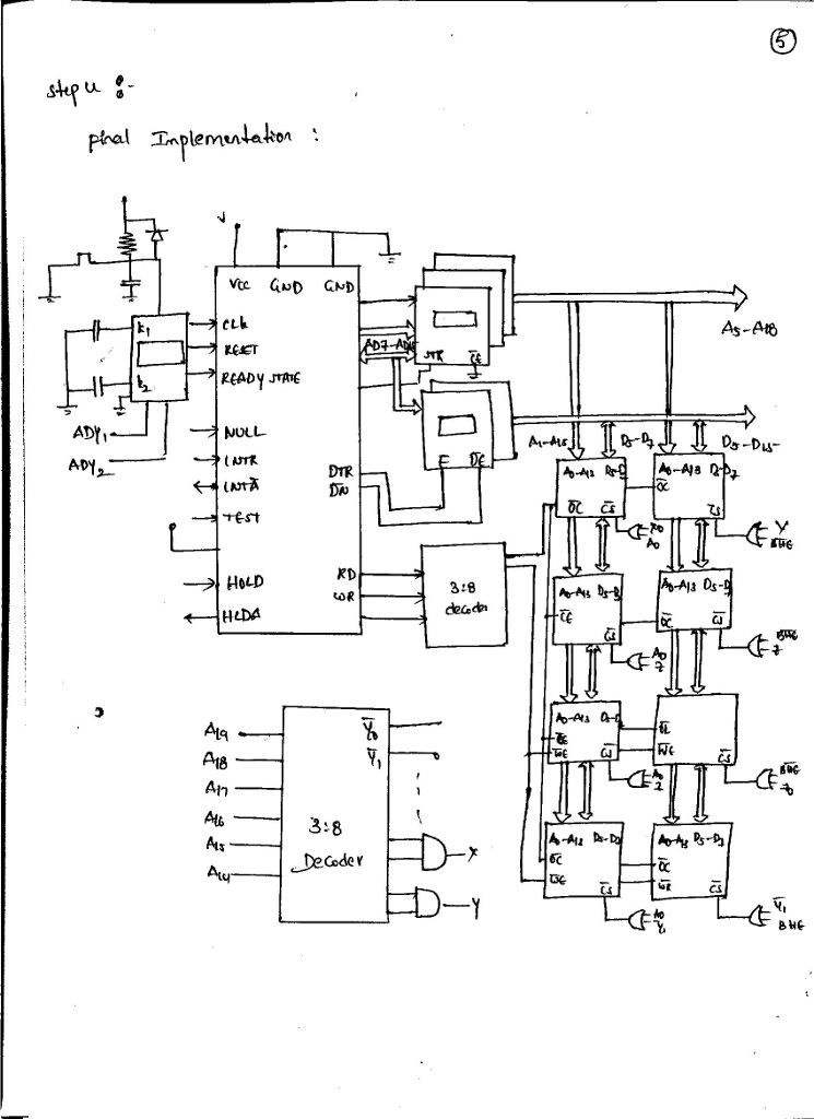 Solved Design A Microcomputer System Using A Up 8086 10mh