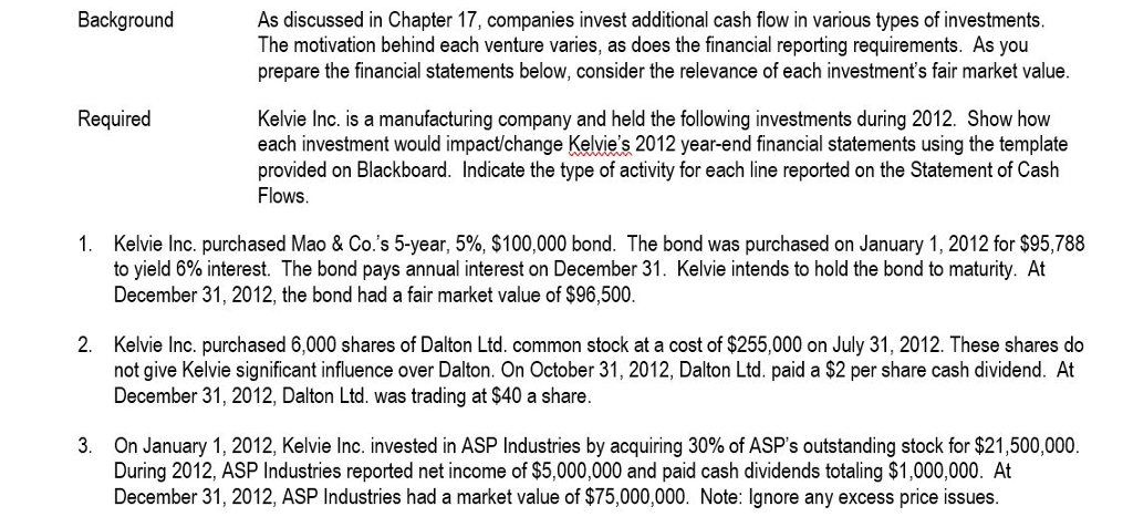 Dalton chapter 17 investments film art team investment