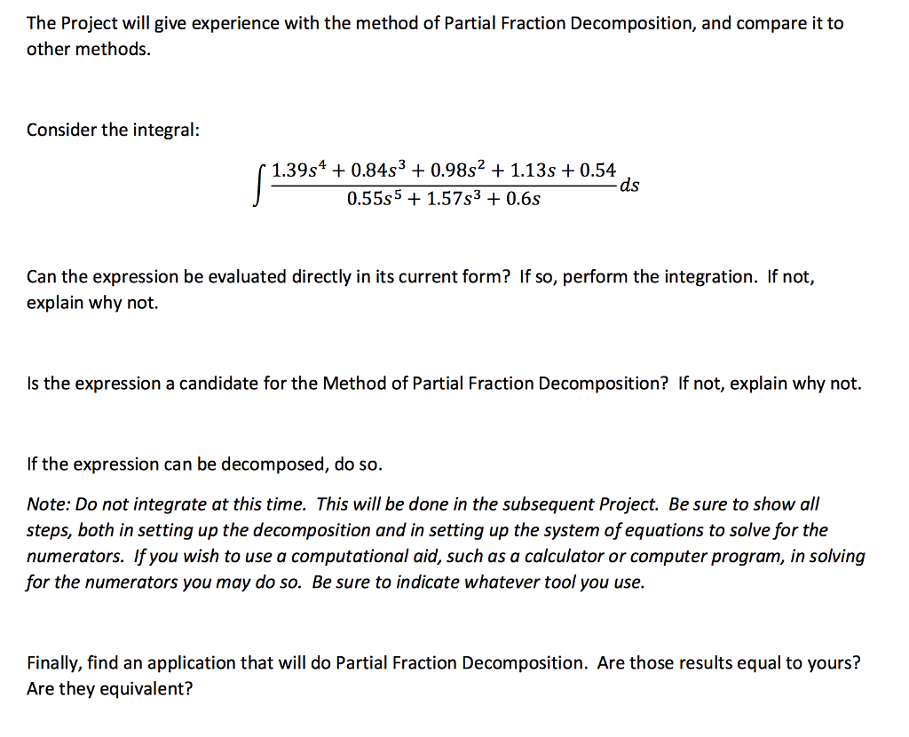 partial fraction decomposition calculator with steps