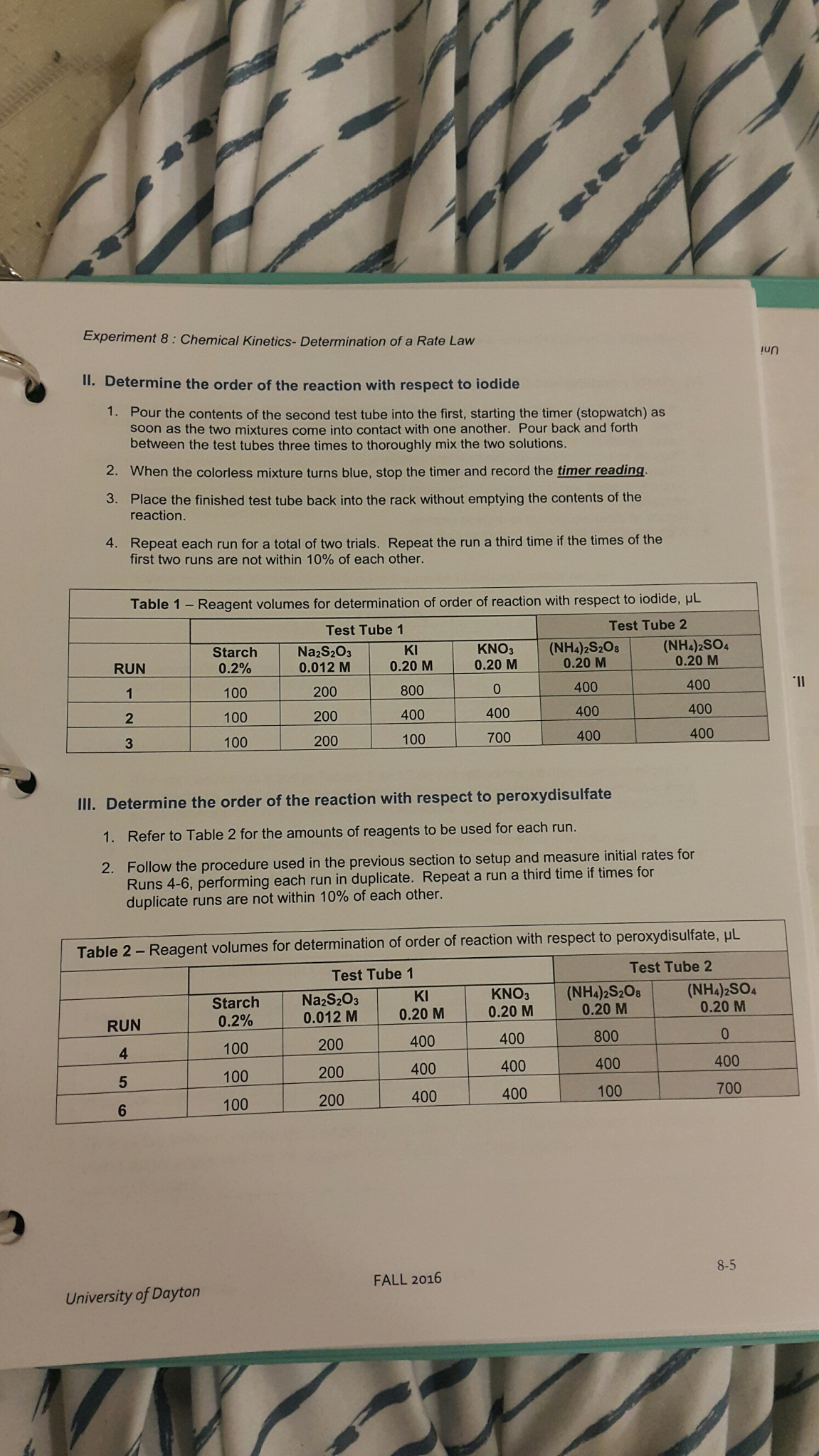 Solved Volumes And Molarity From Tables 1 And 2 In Your L