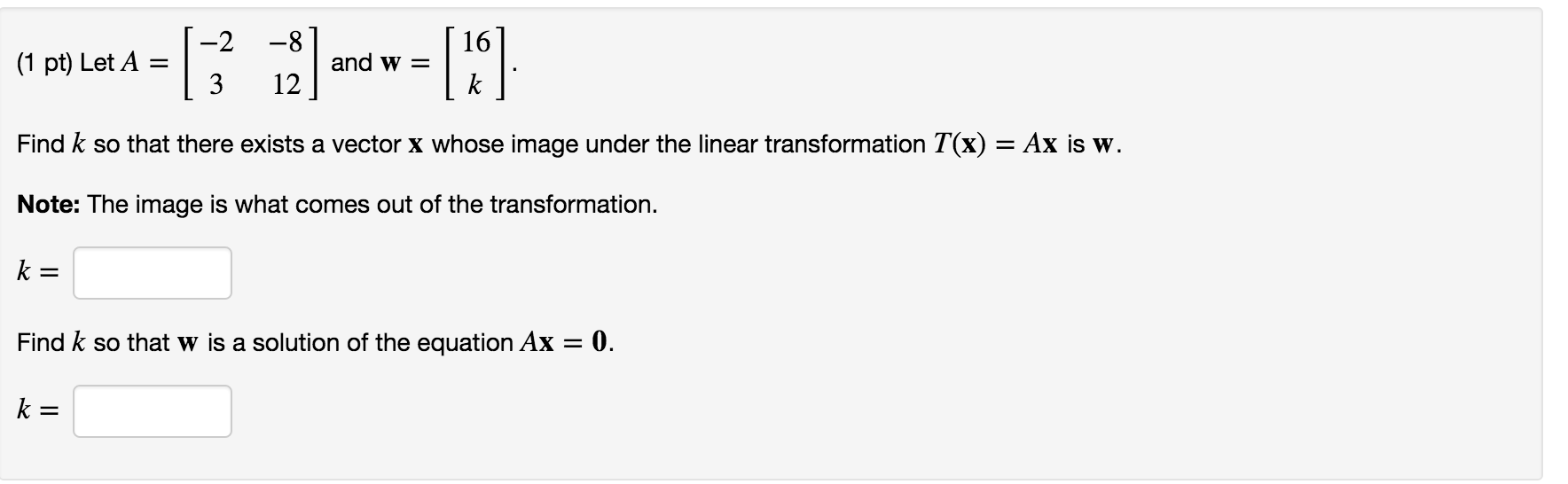 Algebra archive march 06 2016 chegg let a 2 3 8 12 and w 16 fandeluxe Choice Image
