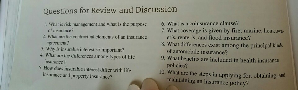 Solved Questions For Review And Discussion 1 What Is Ris