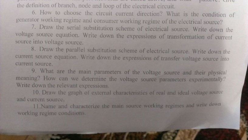 Direction Of Current Flow In The Circuit Question And Answer