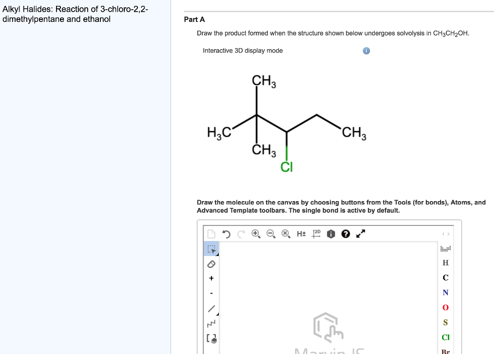 Solved Alkyl Halides Reaction Of 3 Chloro 2 2 Dimethylpe
