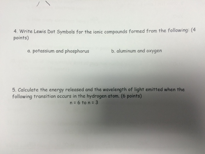 Solved Write Lewis Dot Symbols For The Ionic Compounds Fo