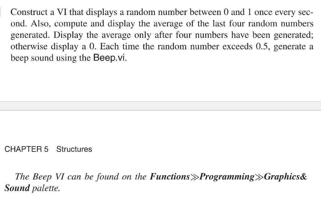 Solved: Construct A VI That Displays A Random Number Betwe