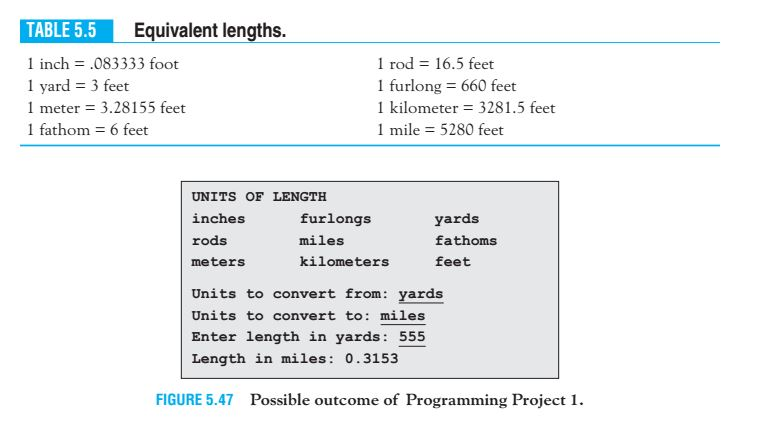 Question Using Thonny For The Following Question Table 5 5 Contains Some Lengths In Terms Of Feet Write