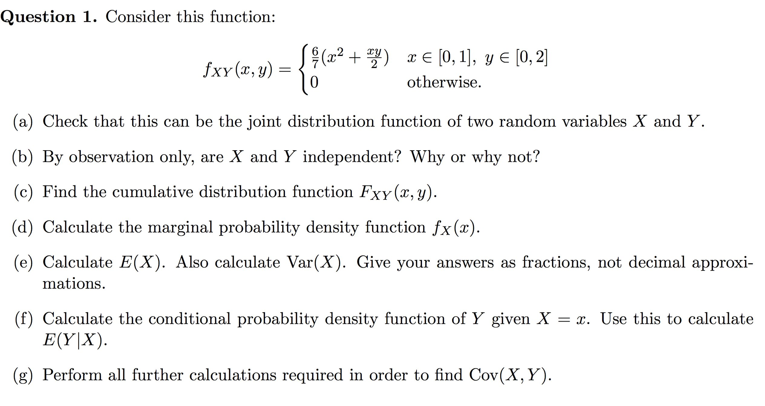 Consider This Function: Check That This Can Be Th