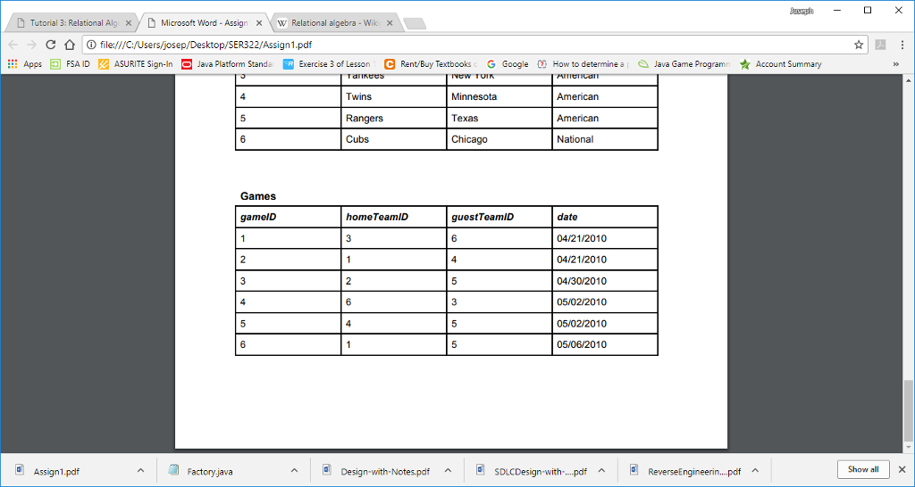 Solved: D Tutorial 3 Relational Ala × / D Microsoft Word A