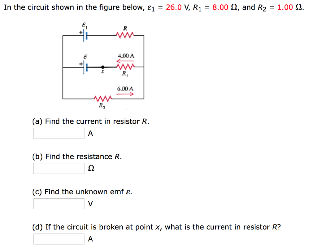 Solved In The Circuit Shown Figure Below 26 Find Total Resistance For Resistor Cheggcom 260 R1 800